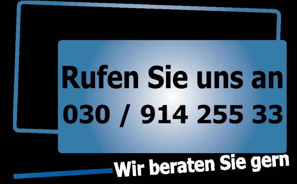 Rufen Sie an 030/91425533